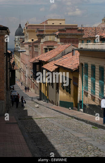 La Candelaria (old section of the city), Bogota, Colombia - Stock Image