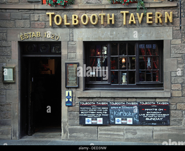Famous Tolbooth Tavern Edinburgh Scotland - Stock Image