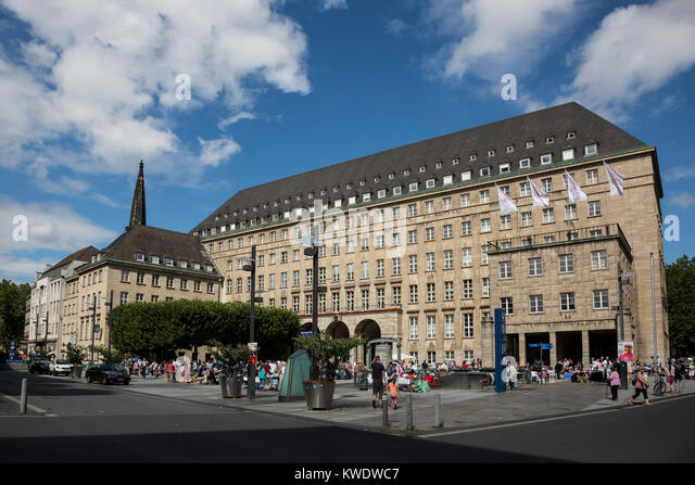 Renaissance-style town hall of Bochum, Ruhr Area, North Rhine-Westphalia, Germany - Stock Image