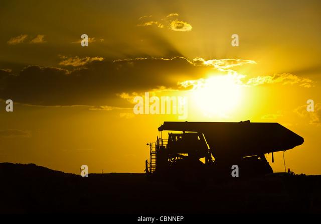 Coal mining truck, Clermont Mines Queensland Australia - Stock Image