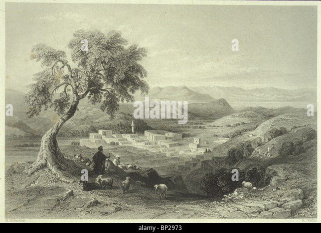2733. NAZARETH - ENGRAVING FROM C. 1850 - Stock-Bilder