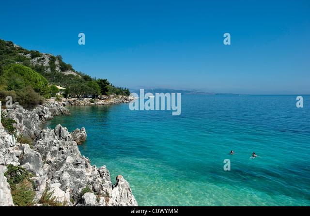 Nissaki, Corfu, Greece - Stock Image