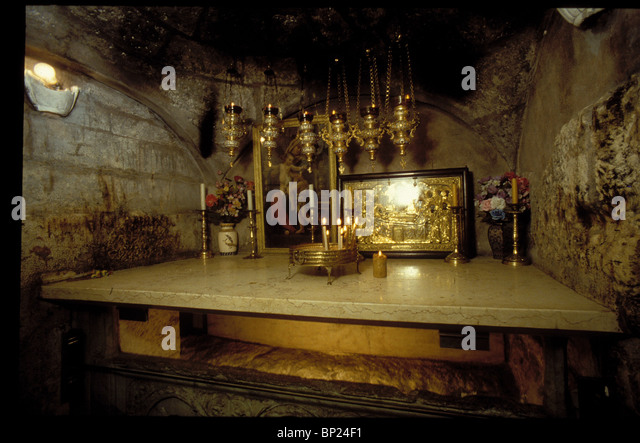 540. THE TOMB OF ST. MARY - INSIDE THE CRUSADER CHURCH IN JERUSALEM - Stock Image
