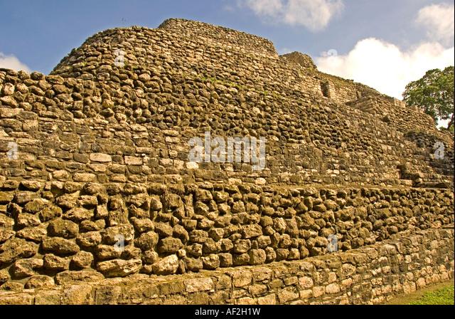 Costa Maya Chacchoben Mayan ruin Temple Pyramid Edificio 24 Mexico - Stock Image