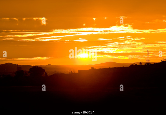 Sunset, Broken Hill, New South Wales, Australia - Stock-Bilder