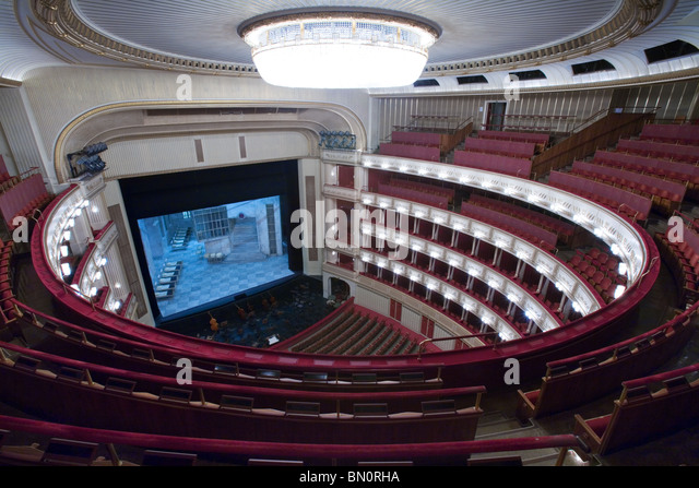 Vienna Opera main auditorium, Vienna, Austria - Stock Image