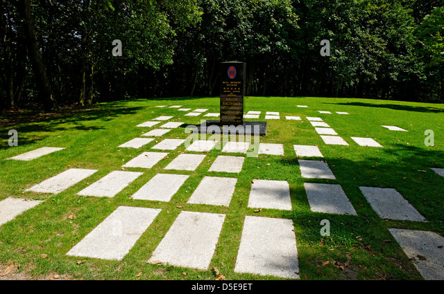 Memorial to the 30th US Infantry Division near La Petite Chapelle, Hill 314, Mortain, Normandy, France - Stock Image