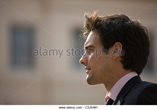 Portrait of a businessman outdoors - Stock Image
