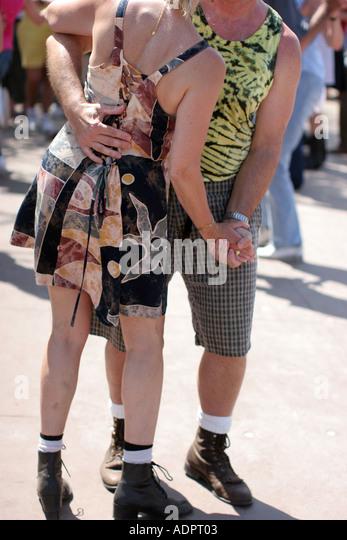 Florida, Zydeco Festival, Cajun, couple dancing, music, - Stock Image