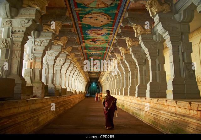 Ramanatha Swami, Rameswaram, Tamil Nadu, India, Asia - Stock Image