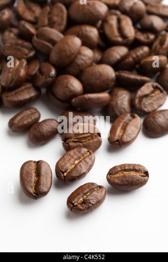 Coffee Bean with white background - Stock-Bilder