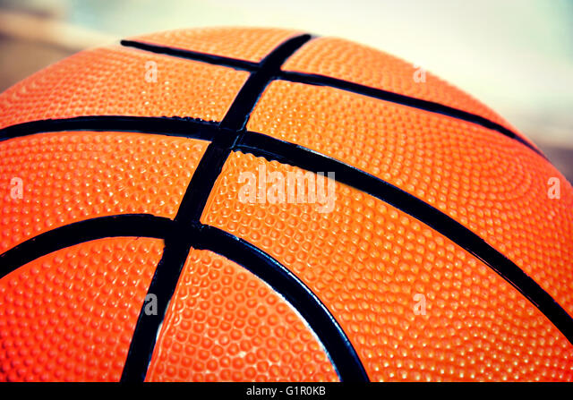 Basketball game. Basketball ball close up picture. - Stock-Bilder