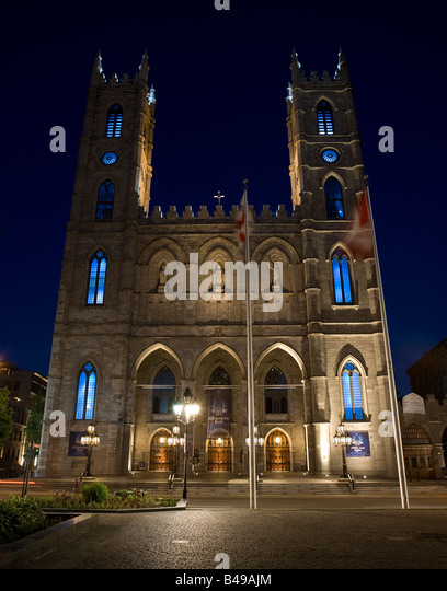 Basilique Notre Dame, Montreal, Canada. - Stock Image