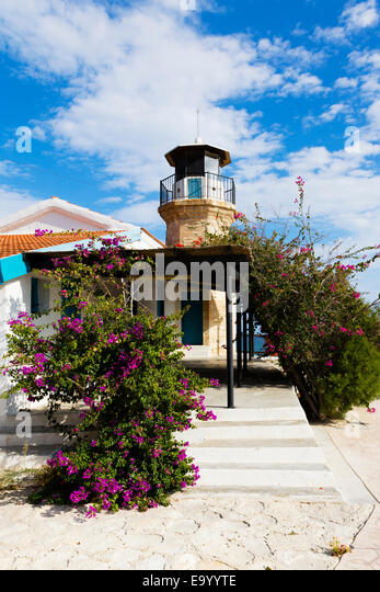 Kiti lighthouse, Pervolia, Cyprus - Stock Image