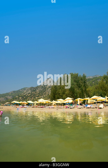 Sugar Beach, Blue Lagoon Turkey - Stock Image