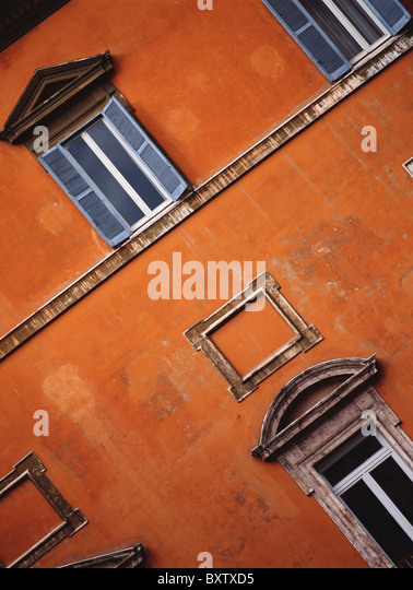 Detail Of Orange Building - Stock Image
