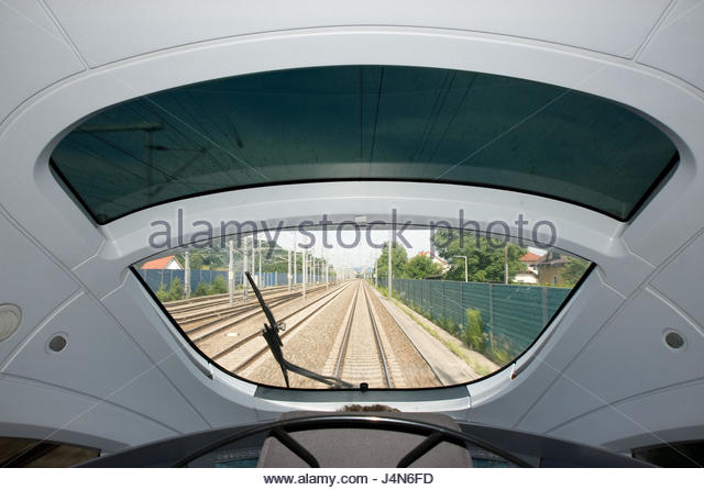 Control panel of an intercity express, - Stock-Bilder