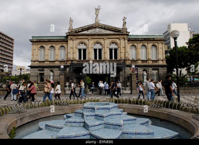 National Theater, San Jose, Costa Rica - Stock Image