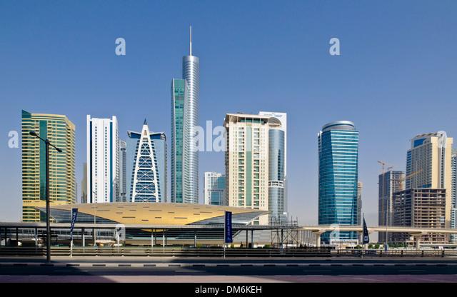 Jumeirah Metro Station, Dubai, UAE, Arabian pensinsula - Stock Image