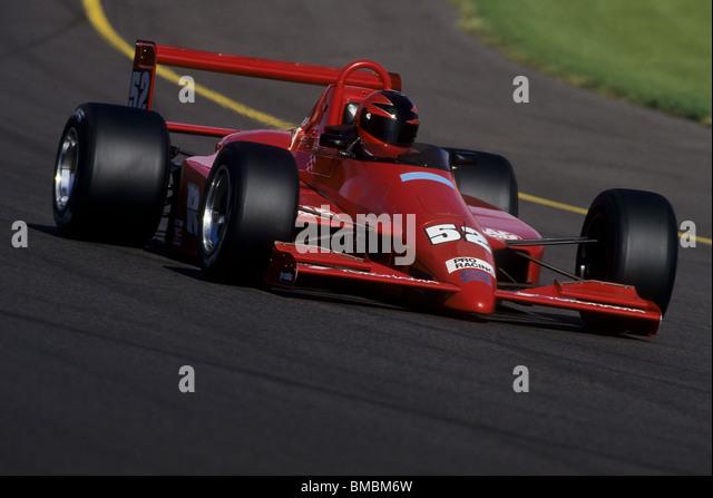 Formula Atlantic racing car action. - Stock Image