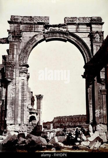 Triumphal Arch, Palmyra, Syria - Stock Image