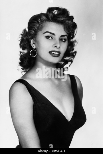 Loren, Sophia,  * 20.9.1934, Italian actress, portrait - Stock-Bilder
