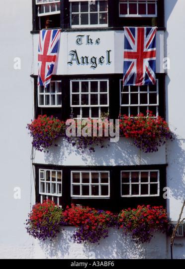England Pub with flags - Stock-Bilder