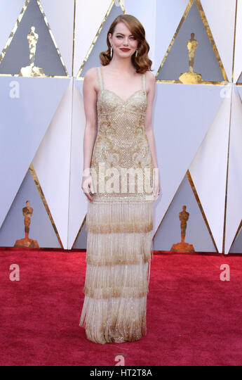 Hollywood, CA, USA. 26th Feb, 2017. 26 February 2017 - Hollywood, California - Emma Stone. 89th Annual Academy Awards - Stock-Bilder