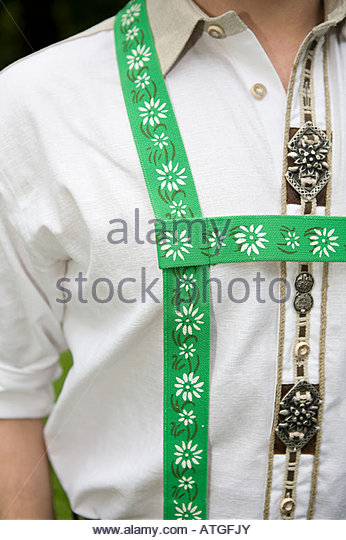 A close up of a man wearing national dress - Stock Image