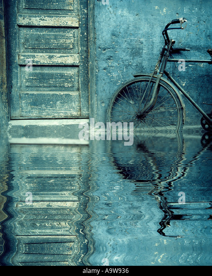 Bicycle in Hangchou, China - Stock Image