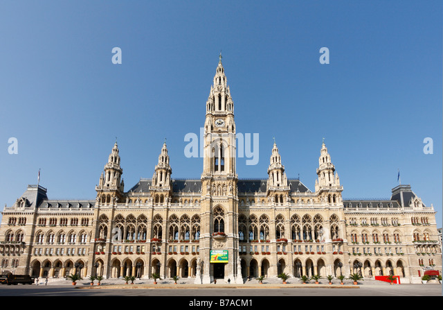 New city hall, Neues Rathaus, Vienna, Austria, Europe - Stock Image