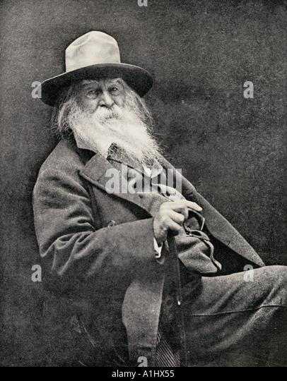 Walt Whitman 1819 1892 American poet - Stock Image