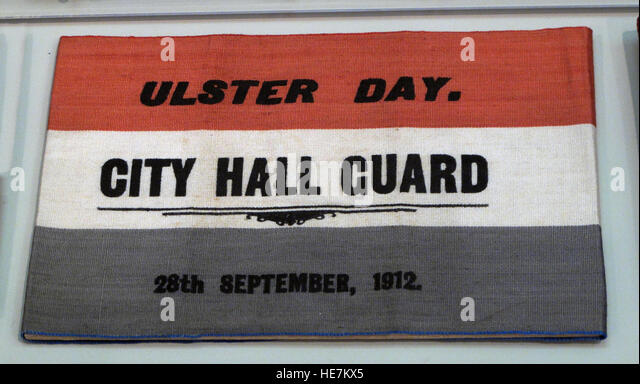 Ulster Day - 28th Sep 1912 - City Hall Guard - Home Rule Crisis - Stock Image