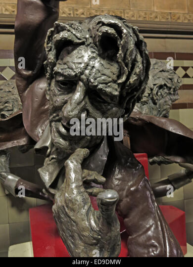 John Barbirolli statue art at Manchester Town Hall, Lancashire, England, UK - Stock Image