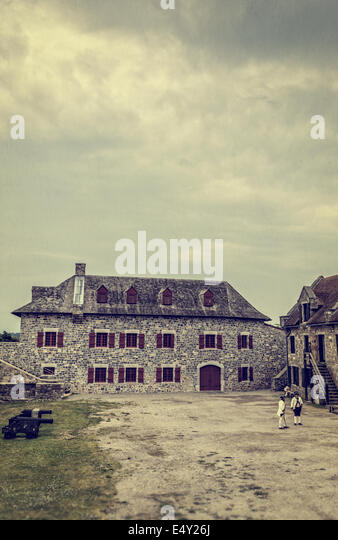Fort Ticonderoga in upstate New York during the time of the American Revolutionary War for Independence. - Stock Image