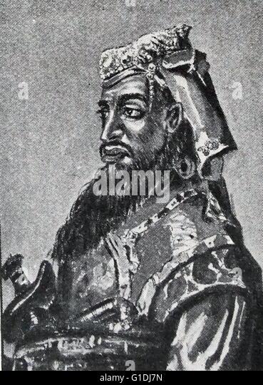 Nana Sahib (born 19 May 1824 – disappeared 1857), born as Dhondu Pant, was an Indian, Maratha aristocrat, who led - Stock Image