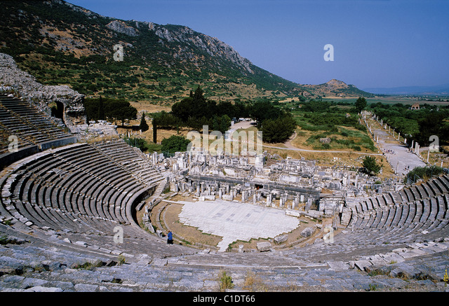 Turkey Aegean Sea Greek Antiquity Ephesus theater - Stock-Bilder