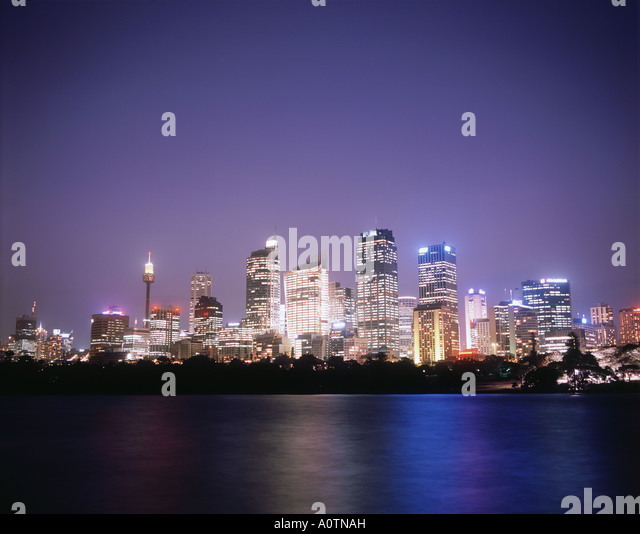City of Sidney night - Stock Image
