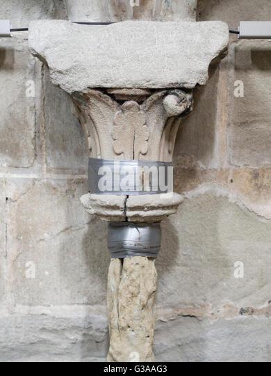 Broken Stone Pillar : Broken column stock photos images