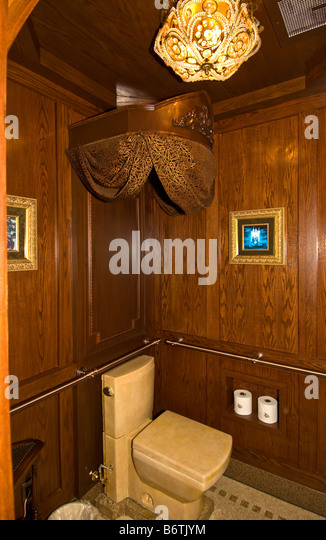 Cinderella Castle Suite The Royal Toilet WC Magic Kingdom Walt Disney World Orlando Florida FL - Stock Image