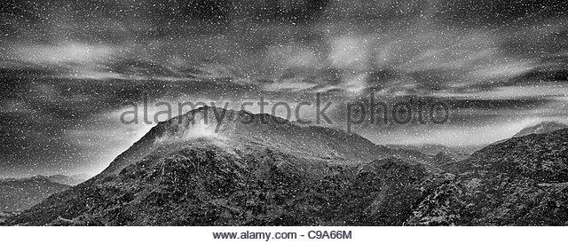 Mountain snow - Stock Image