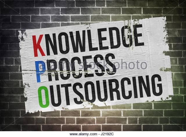 knowledge process outsourcing - Stock Image