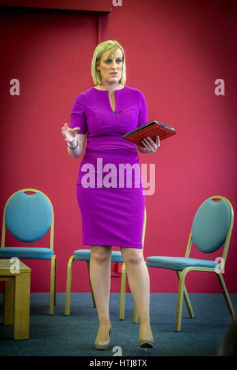 TV personality Steph McGovern hosted the Skills Gap and Focus of Business Debate held at the Heath Business and - Stock Image