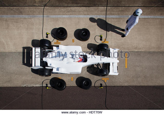 Over head racing car - Stock Image