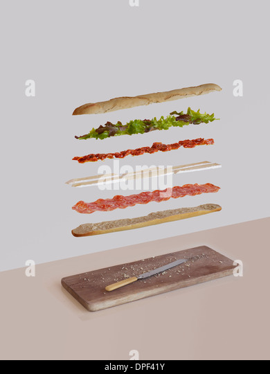 French sandwich deconstructed - Stock Image