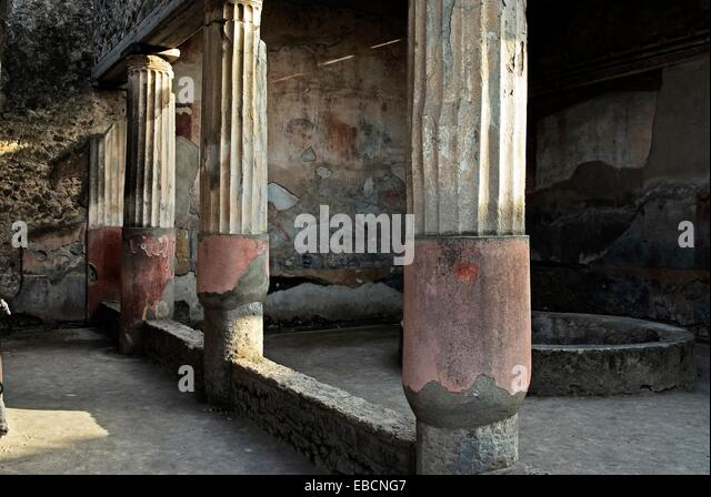 ancient antica antique antiquity Apollo Archaeological site archaeology architecture bury Caccia Campania casa chasse - Stock-Bilder