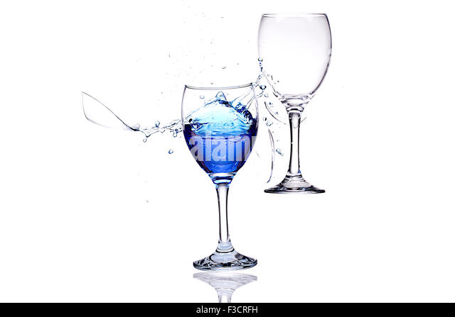 Smashing Wine Glasses - Stock Image