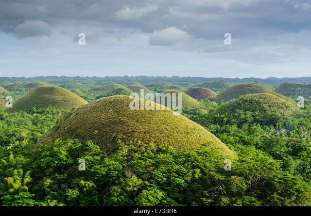 Chocolate Hills, Bohol, Philippines, Southeast Asia, Asia - Stock Image