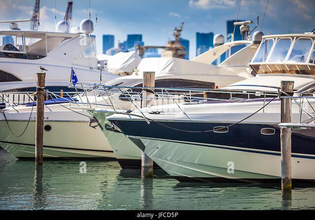 Port in Miami Florida - Stock Image