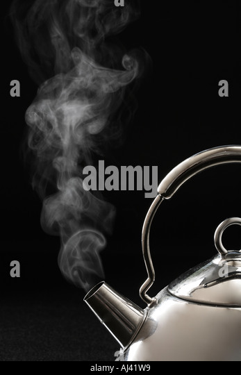 Steam coming from Kettle - Stock Image